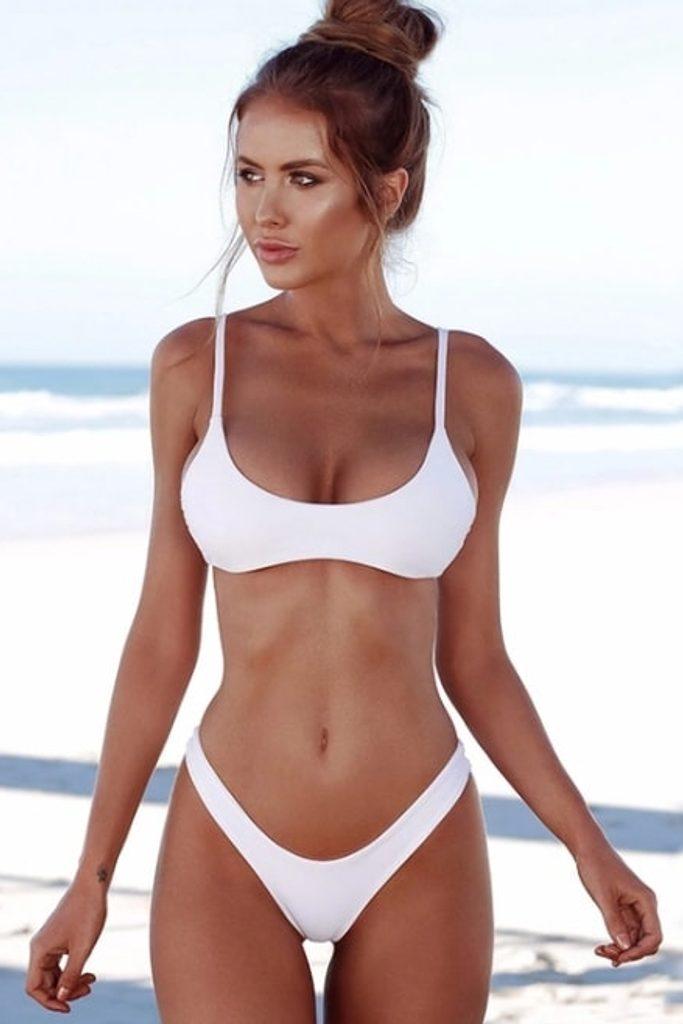 Dámské plavky Brazilky - white - S/M