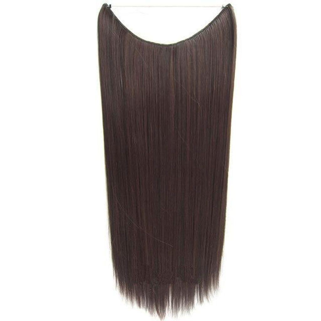 FLIP IN vlasy - 100% Lidské vlasy k prodloužení REMY, tmavě hnědá