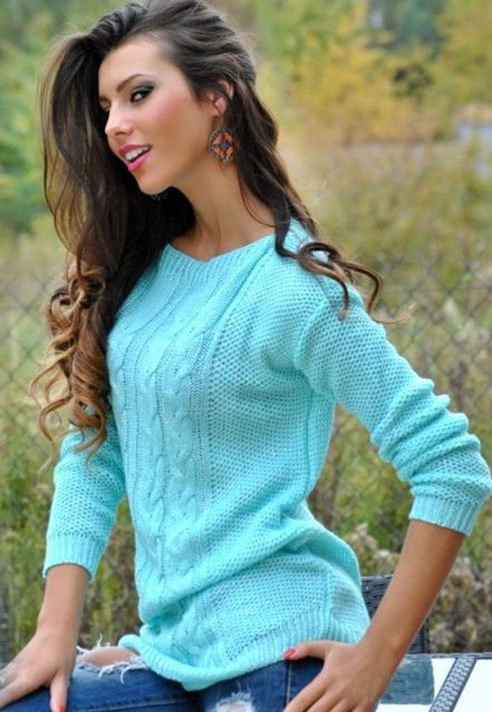 Dámský vlněný svetr - UNI (S-L)  Mint