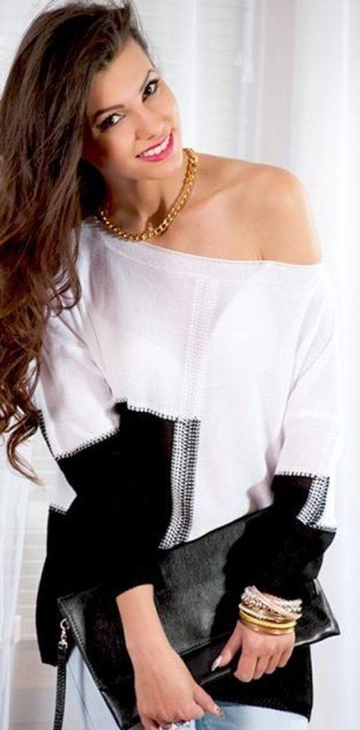 Dámský oversize svetřík - UNI (S-L)  Black