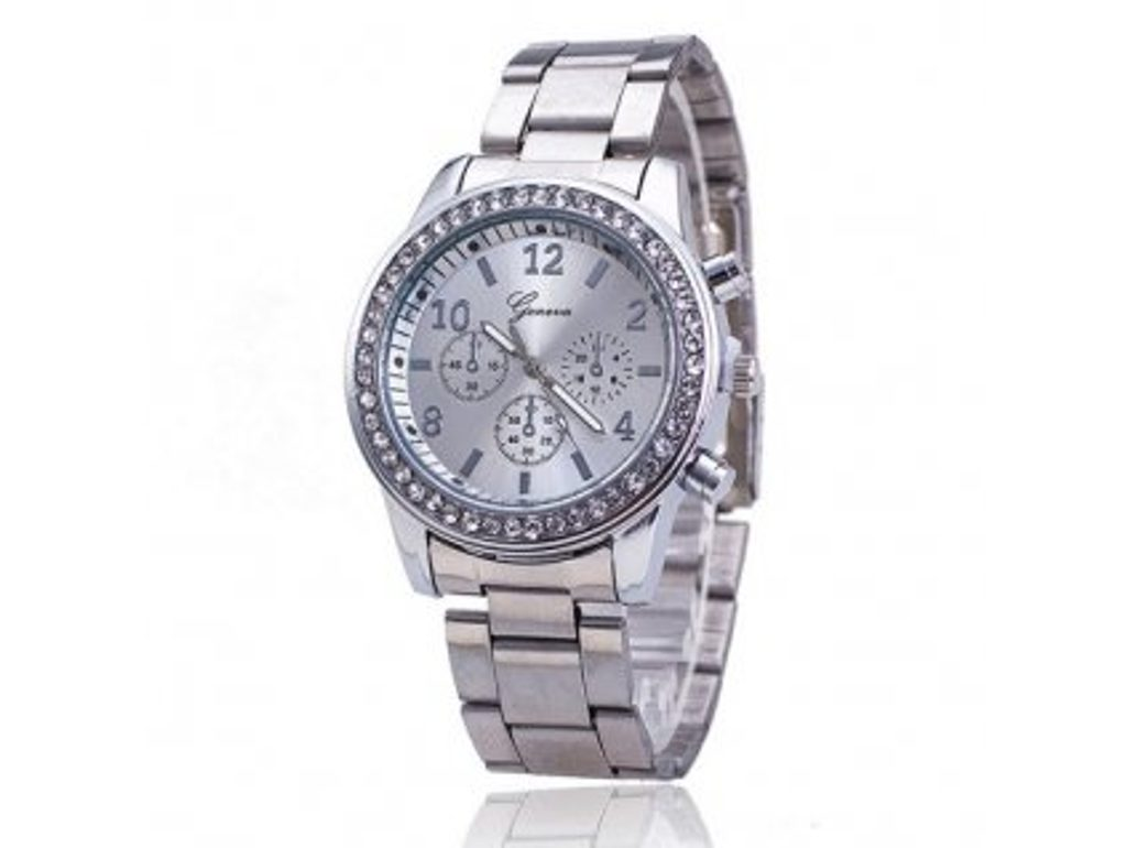 Luxusní hodinky s krystaly Swarovski Elements- silver