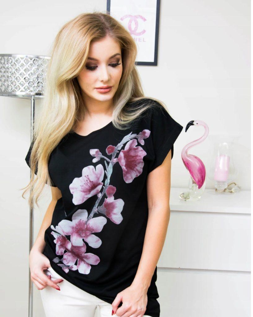 Dámské stylové tričko - vzor 7 - 4XL/5XL