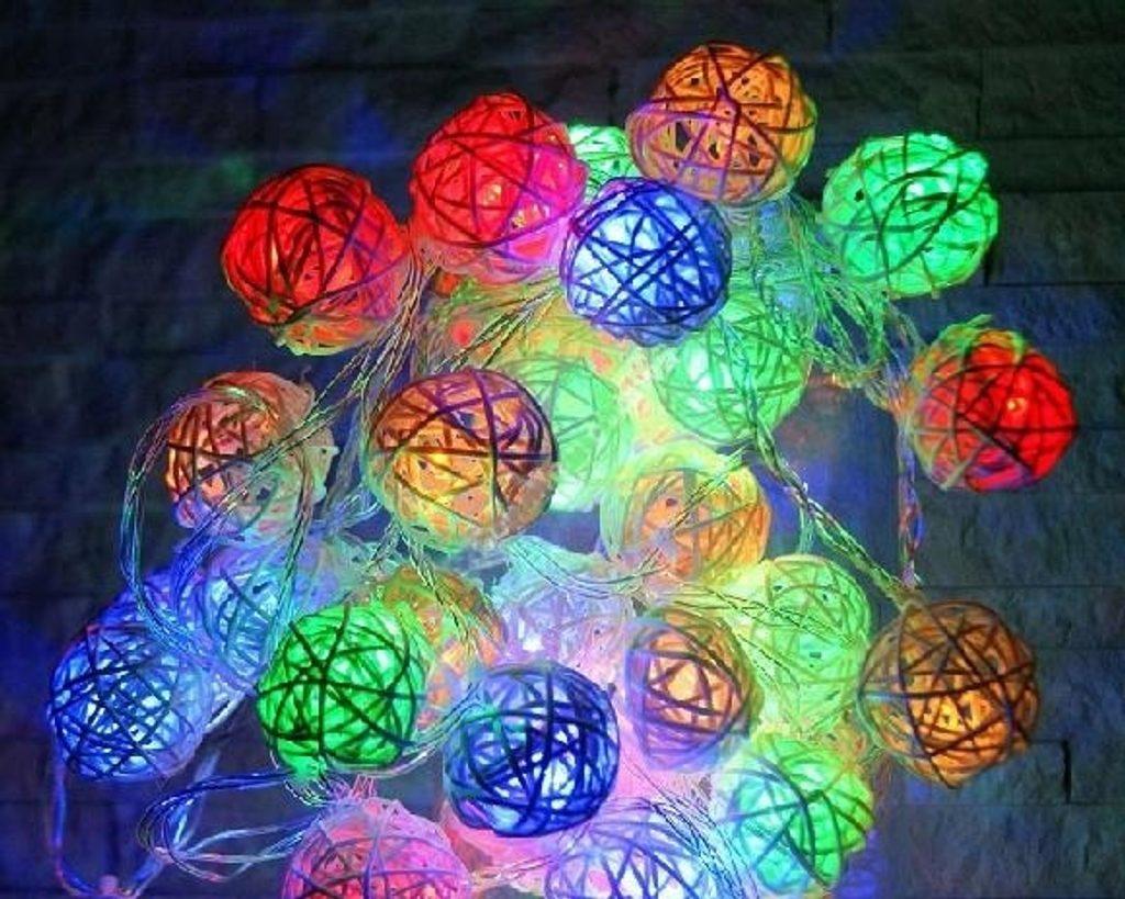 3D dekorativní osvětlení Rattan