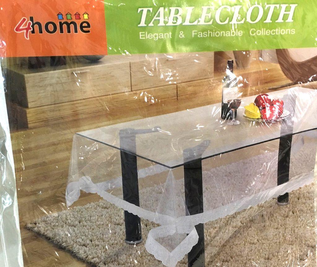 PVC ubrus na stůl s imitací krajky, 142 x 187 cm