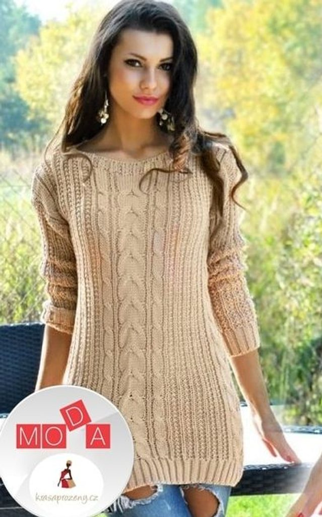 Dámský pletený svetřík - UNI (S-L)