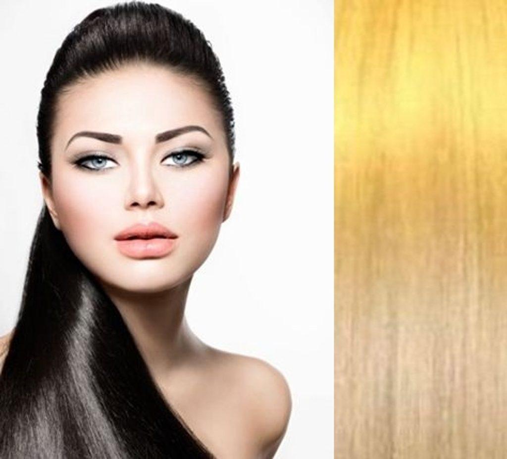 Příčesek culík/ cop PONY 100% Lidské vlasy REMY 52cm přírodní blond II.jakost
