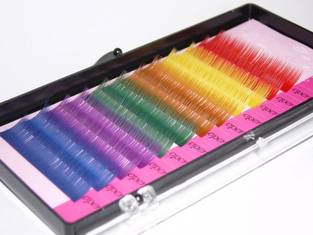 Sada barevných řas typ C, tloušťka 0,15mm - délka 10mm