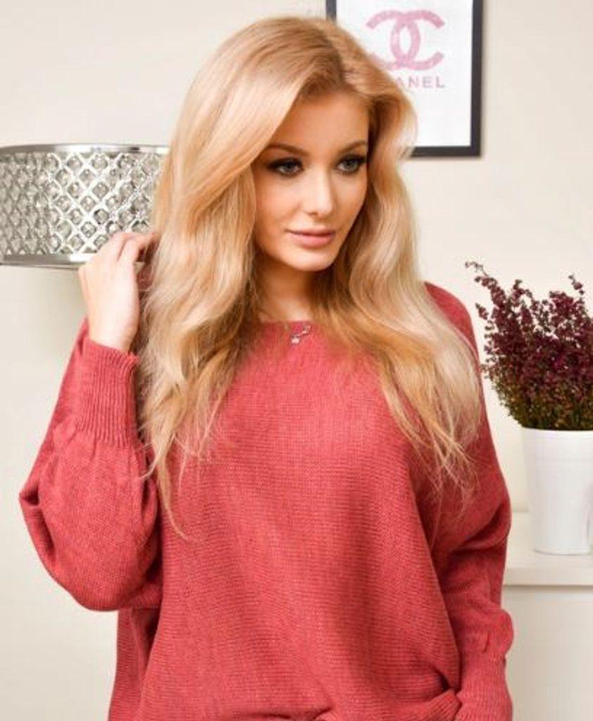 Dámský oversize svetřík - UNI (S-L)  Peach