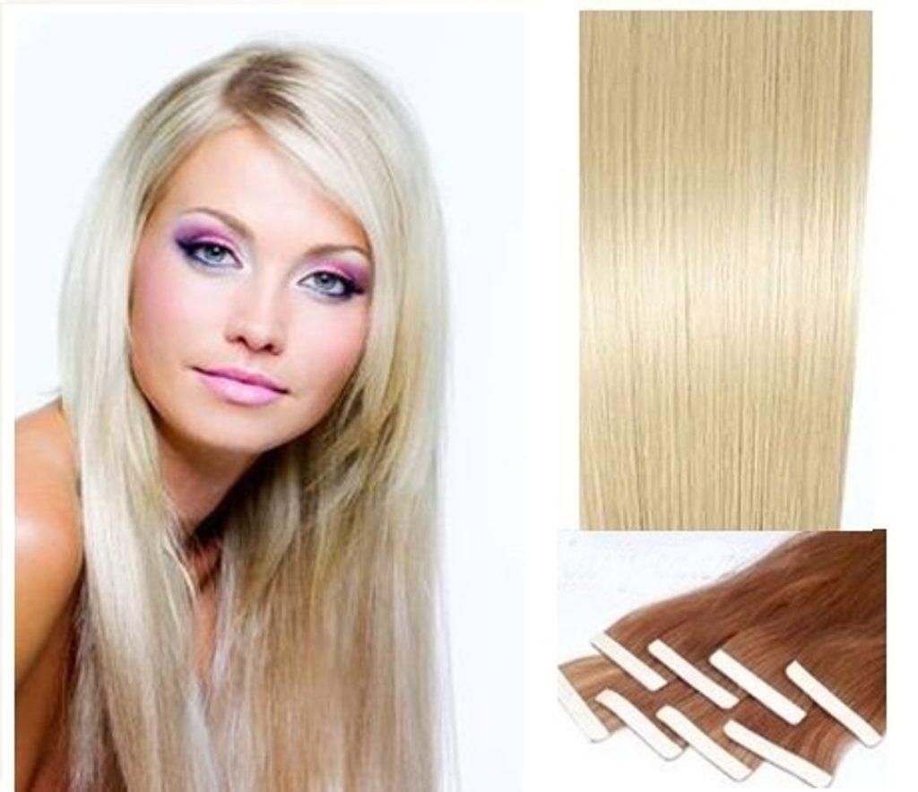 TAPEX vlasy - 100% Lidské vlasy REMY, platinová Blond
