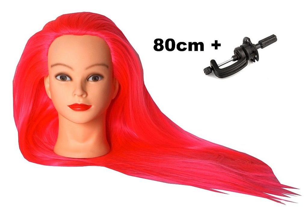 Cvičná hlava Eva k prodlužování vlasů, střihy, účesy + stojan ZDARMA! až 80cm II. jakost