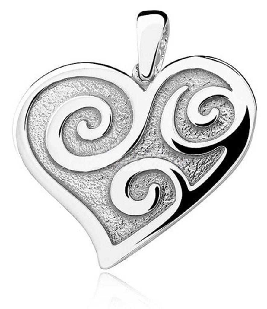 Stříbrný přívěsek Srdce se spirálami