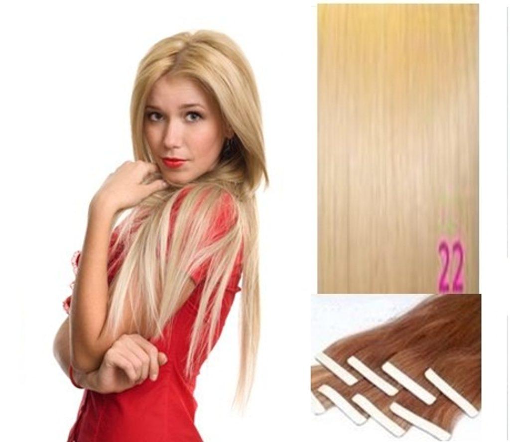 TAPEX vlasy - 100% Lidské vlasy REMY, Blond