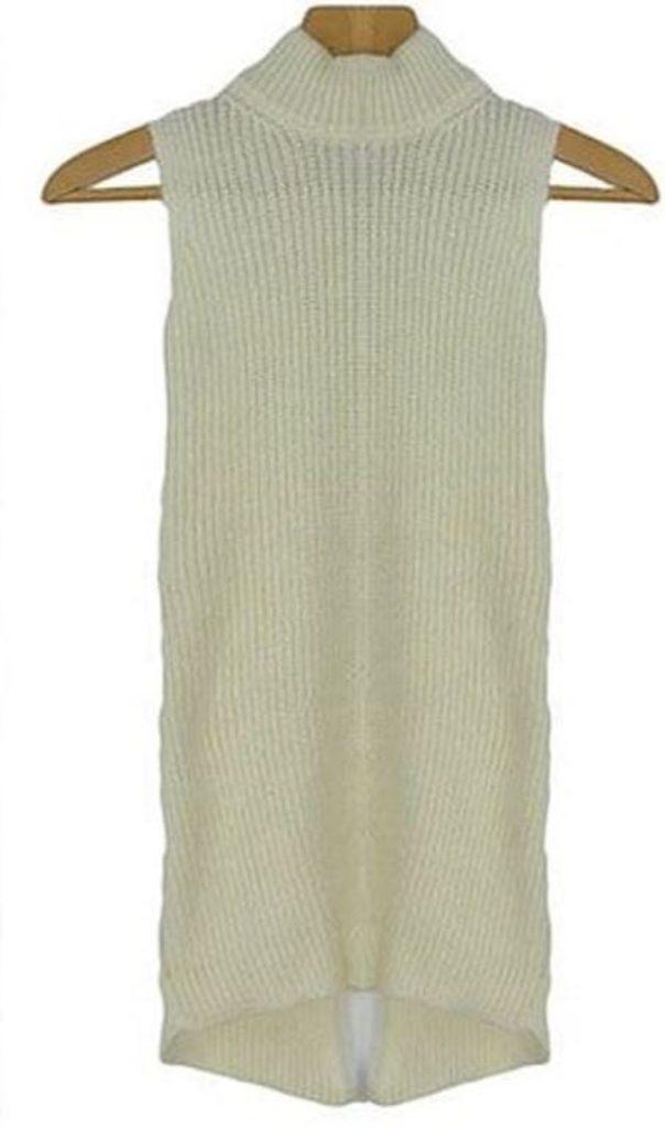 Dámský pletený rolák - UNI (S-L)  Ecru