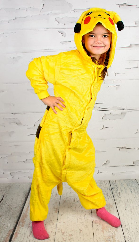 Luxusní dětský plyšový overal - pikachu - S