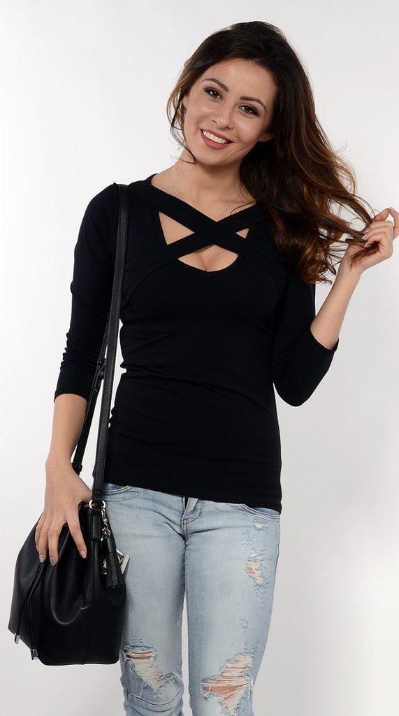 Dámská sexy tunika - UNI (S-L)  Black