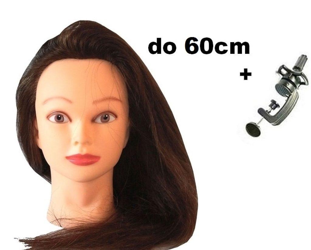 Cvičná hlava Katarína k prodlužování vlasů, střihy, účesy + stojan ZDARMA! II. jakost
