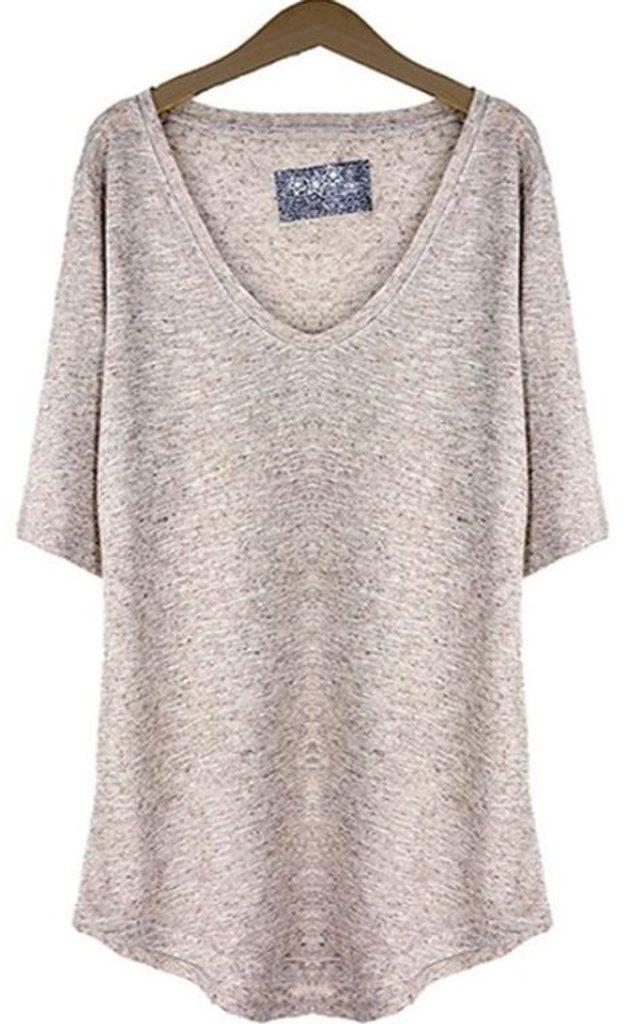 Dámské módní tričko - UNI (S-L)  Beige