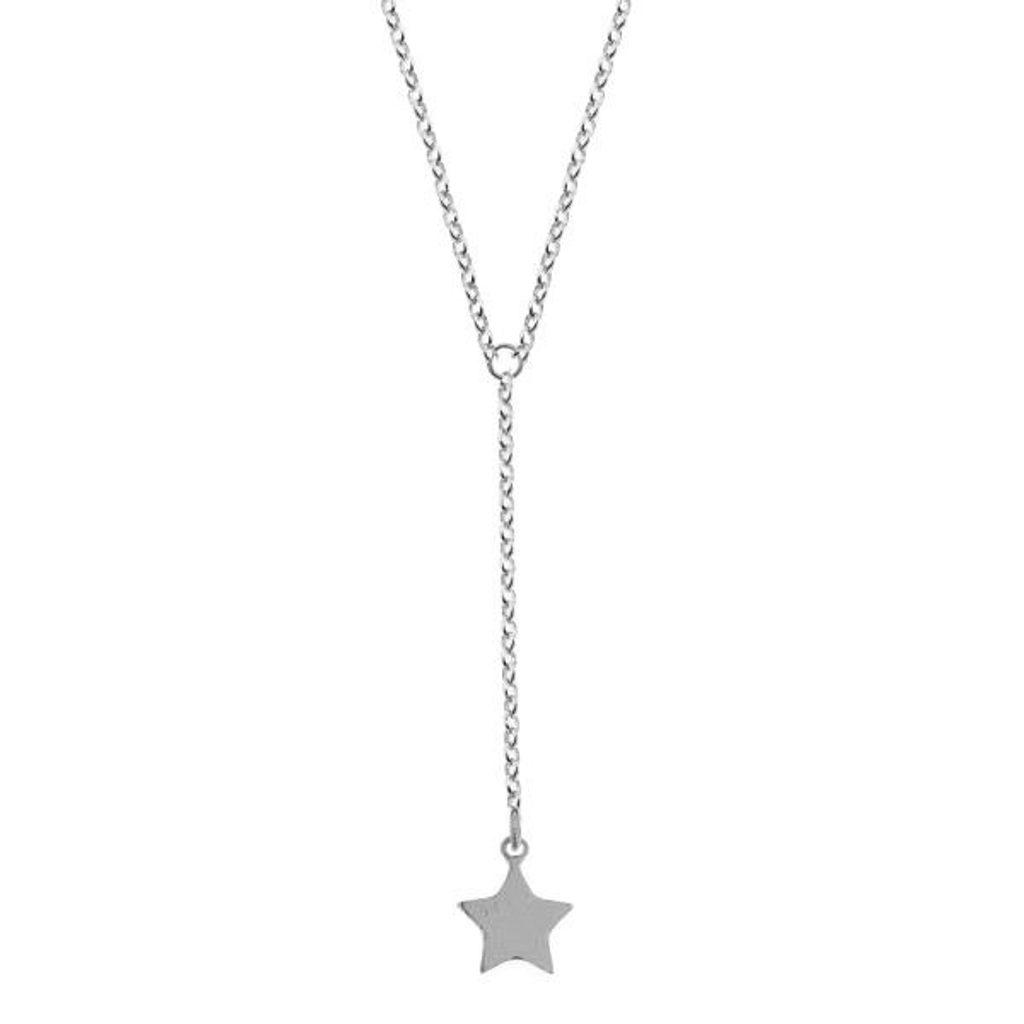 Stříbrný náhrdelník hvězda