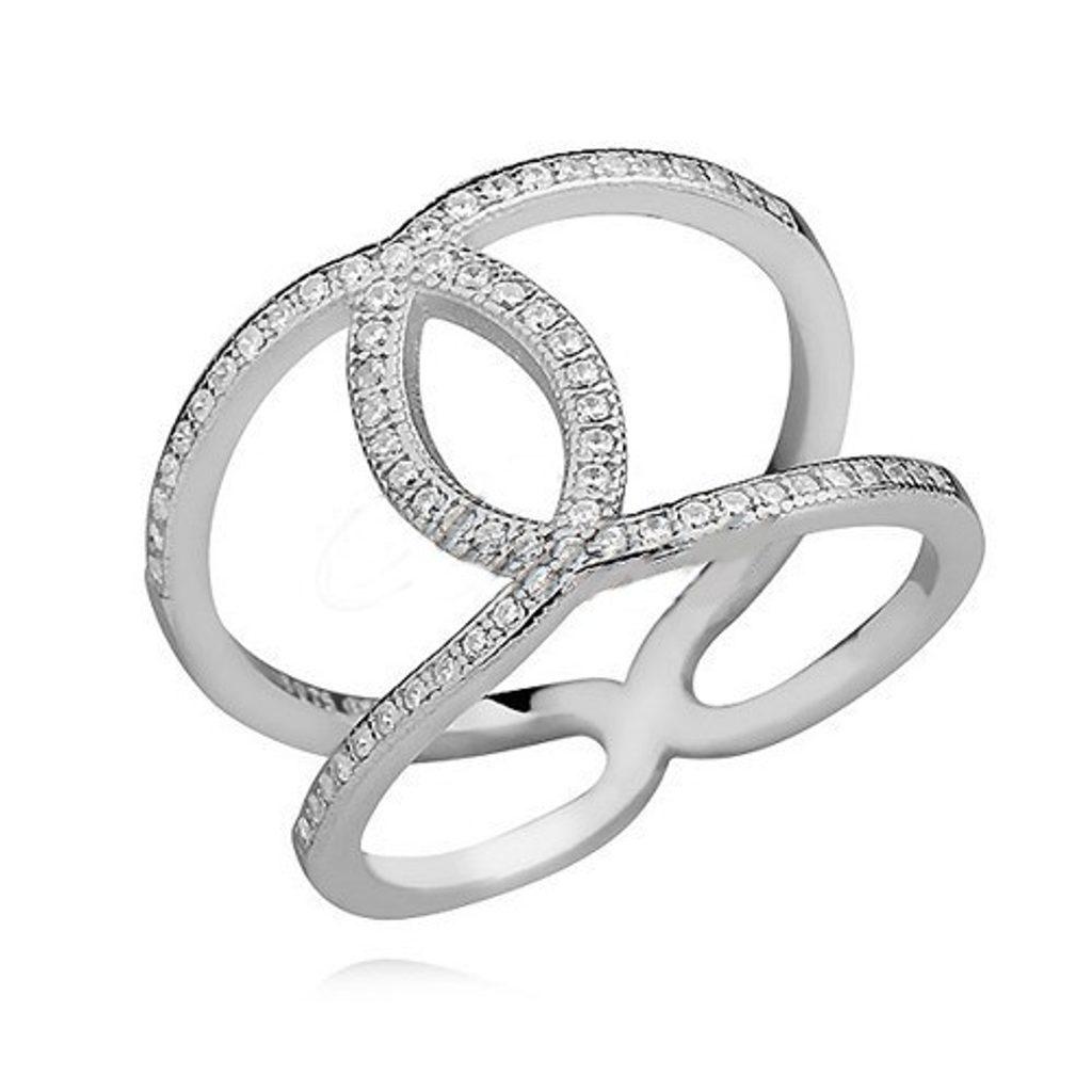 Stříbrný prsten Esperanza Swarovski Elements zirconia - 49 mm