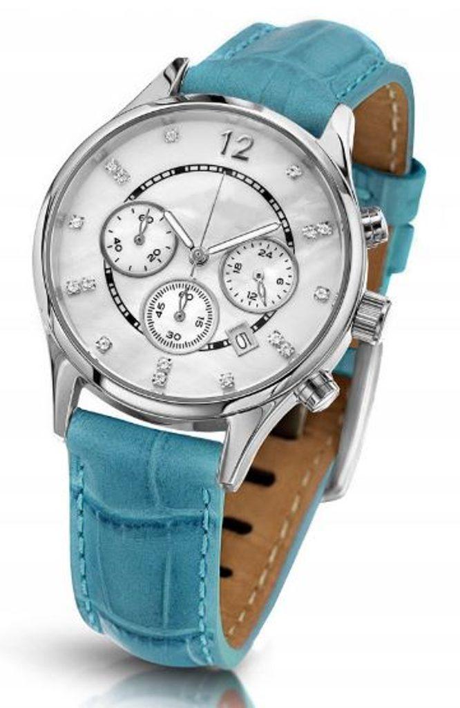 Oslnivé hodinky Geneva Pearl Swarovski stříbrné - tyrkys