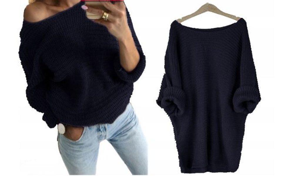 Dámský pletený svetřík - UNI (S-L)  Granat