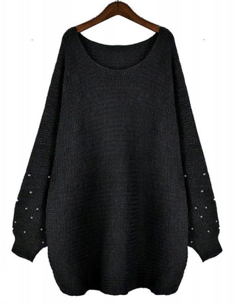 Perfektní svetr s perličkami - UNI (S-L)  Black