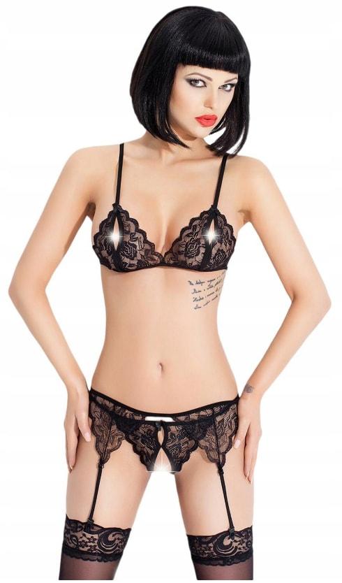 Luxusní krajkové prádlo - black - S/M