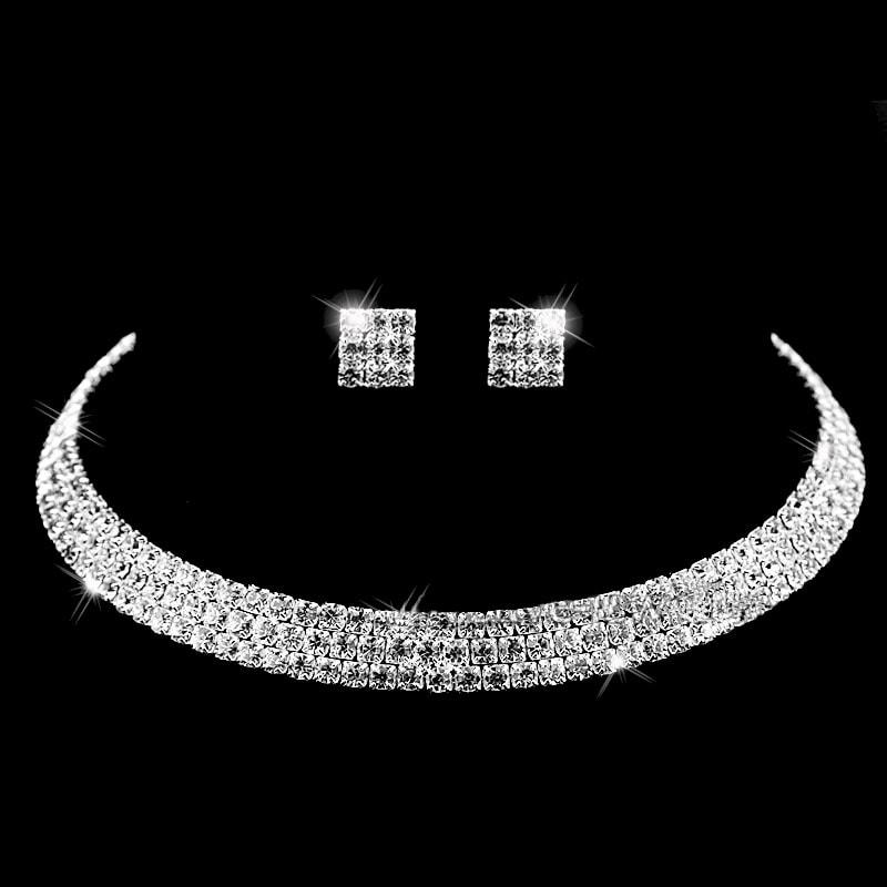 Luxusní sada náhrdelníku a náušnic - design 2