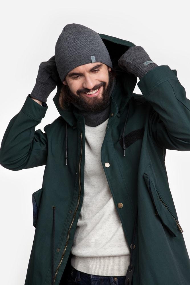 Luxusní pánská sada - čepice, tunel, rukavice - grey
