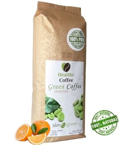 Zelená káva na hubnutí - mletá, 250g s pomerančem