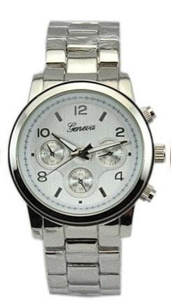 Luxusní dámské hodinky Geneva - silver II. jakost - 1