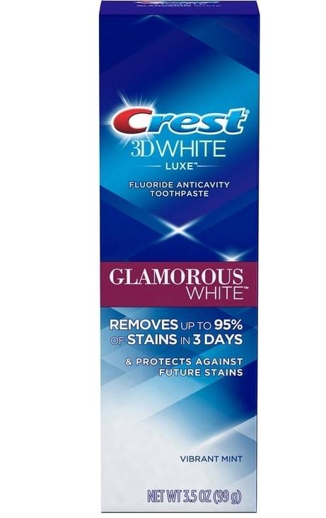 Bělící zubní pasta Crest 3D White Glamorous White - Akční cena