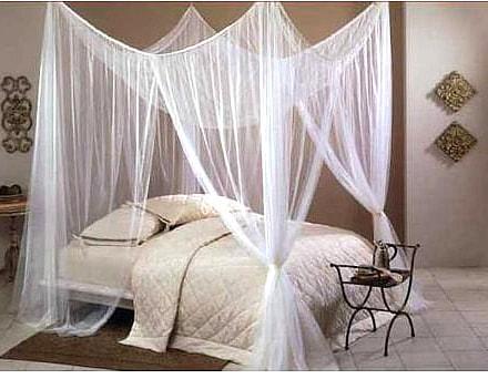 Exkluzivní nebesa nad postel - bílá