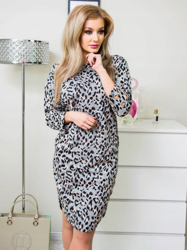 4961c9f55 Studiomody.cz - Krásné dámské šaty - leopard - Móda XXL - 5XL ...