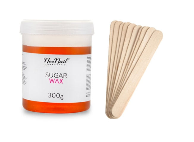 Depilační cukrová pasta + 10ks dřevěné špachtle - 300g
