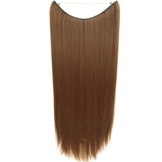 FLIP IN vlasy - 100% Lidské vlasy k prodloužení REMY, světle hnědá