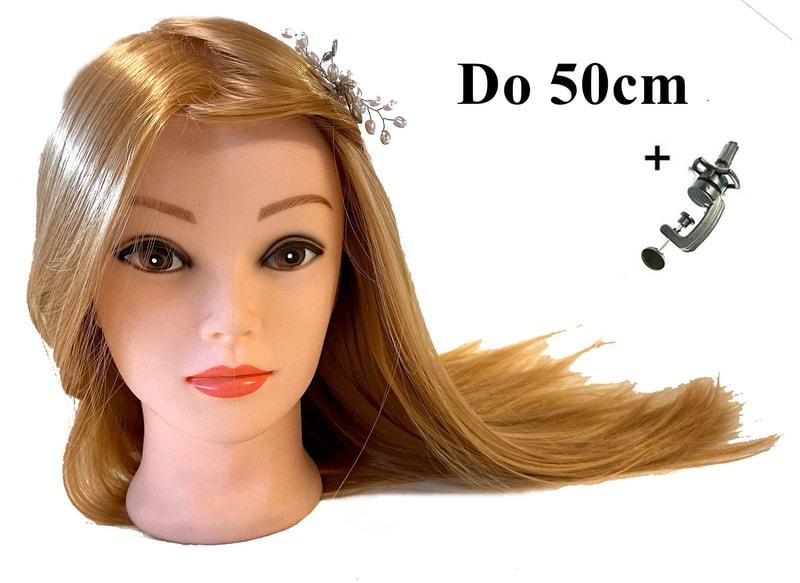Cvičná hlava Anet k prodlužování vlasů, střihy, účesy + stojan ZDARMA!