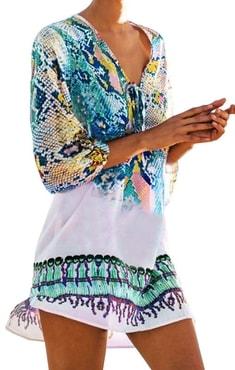 da4d41808 ... Plážová móda a plavky » Nádherná letní tunika - blue. Nádherná letní  tunika - blue