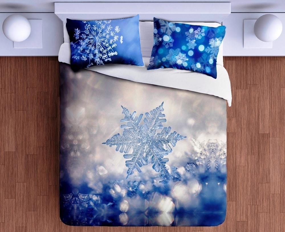 Gipetex Natural Dream 3D italské povlečení 100% bavlna Ice Star-Ledová hvězda - 140x200 / 70x90 cm