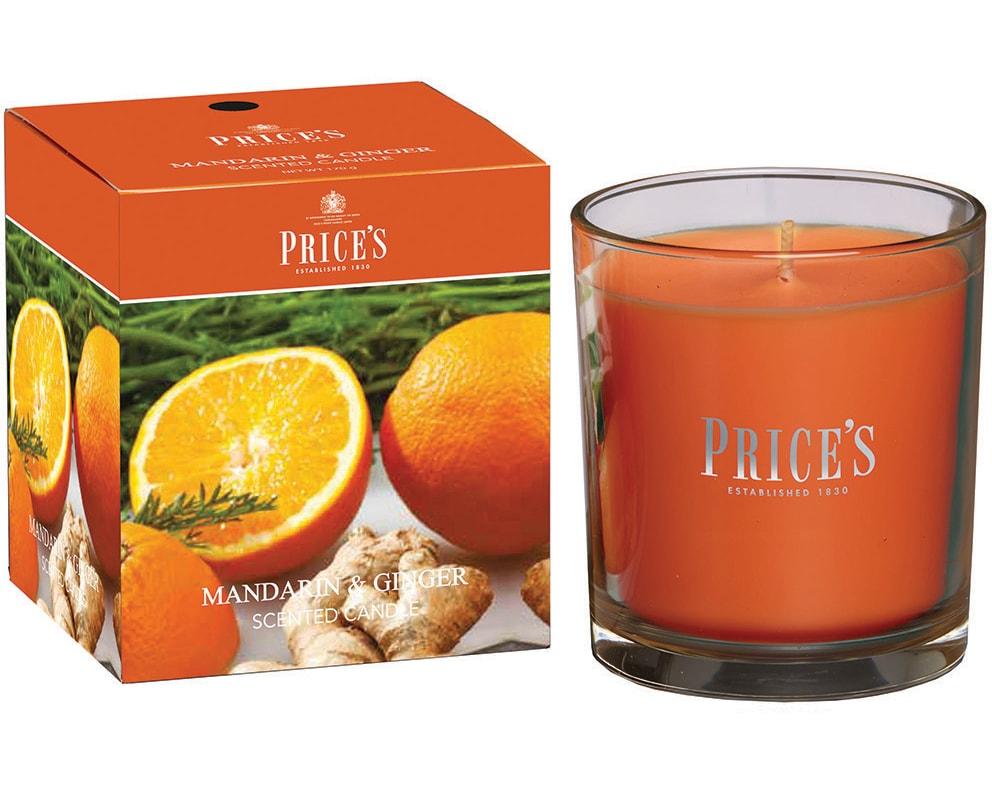 Price´s FRAGRANCE vonná svíčka ve skle Mandarinka & Zázvor - hoření 45h