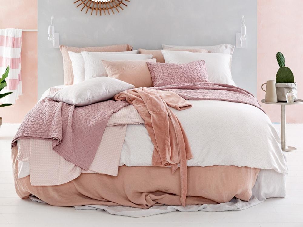 Vandyck Luxusní bavlněné povlečení VANDYCK Washed Cotton White - bílá - 140x200 / 70x90 cm