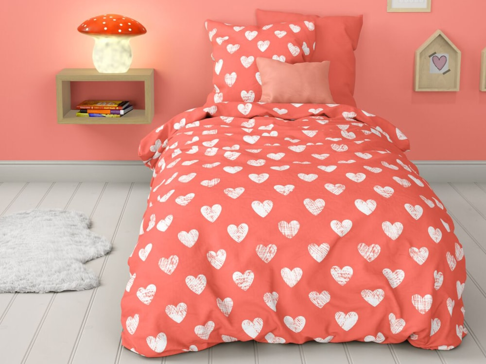Mistral Home dětské povlečení 100% bavlna Srdíčka Amore 140x200/70x90cm