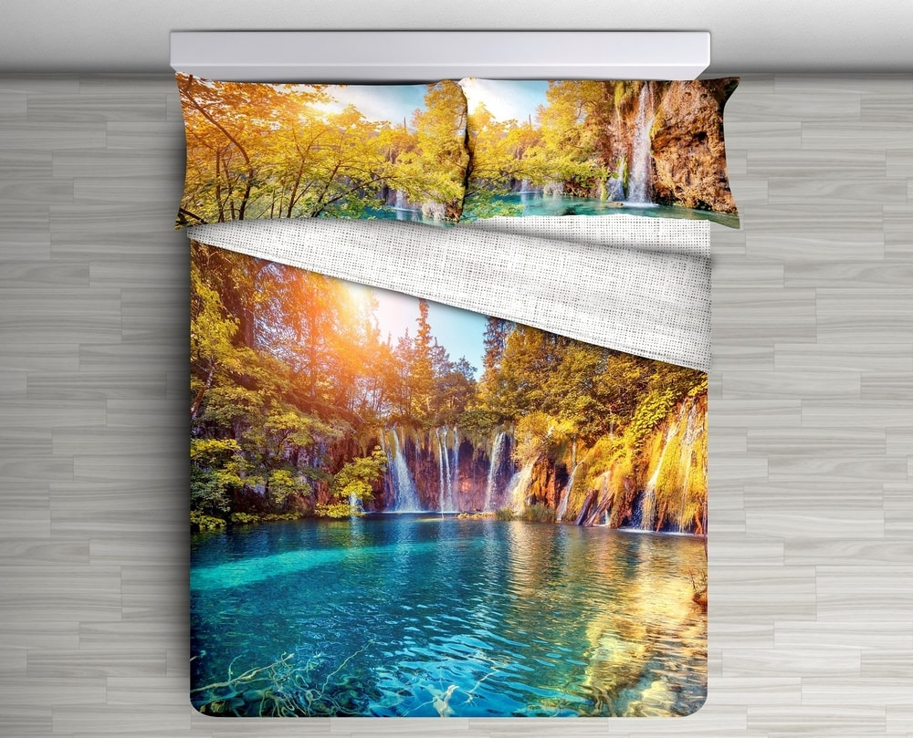 Gipetex Natural Dream 3D italské povlečení 100% bavlna Cascata - 140x200 / 70x90 cm