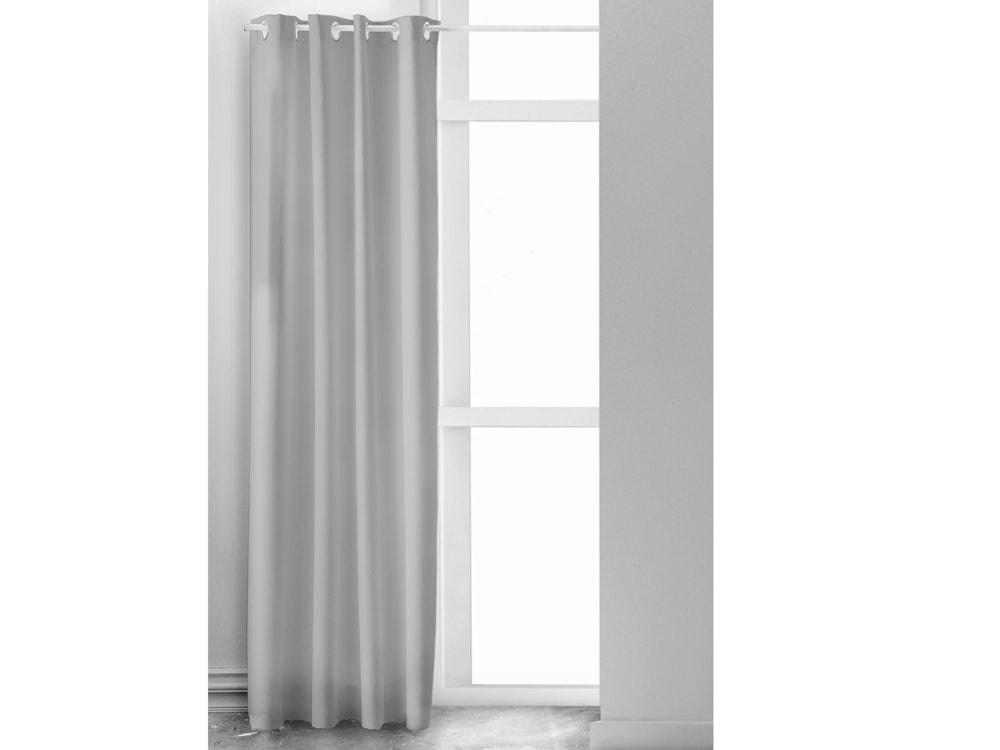 TODAY HYGGE závěs z mačkané bavlny 140x240 cm sv. šedý