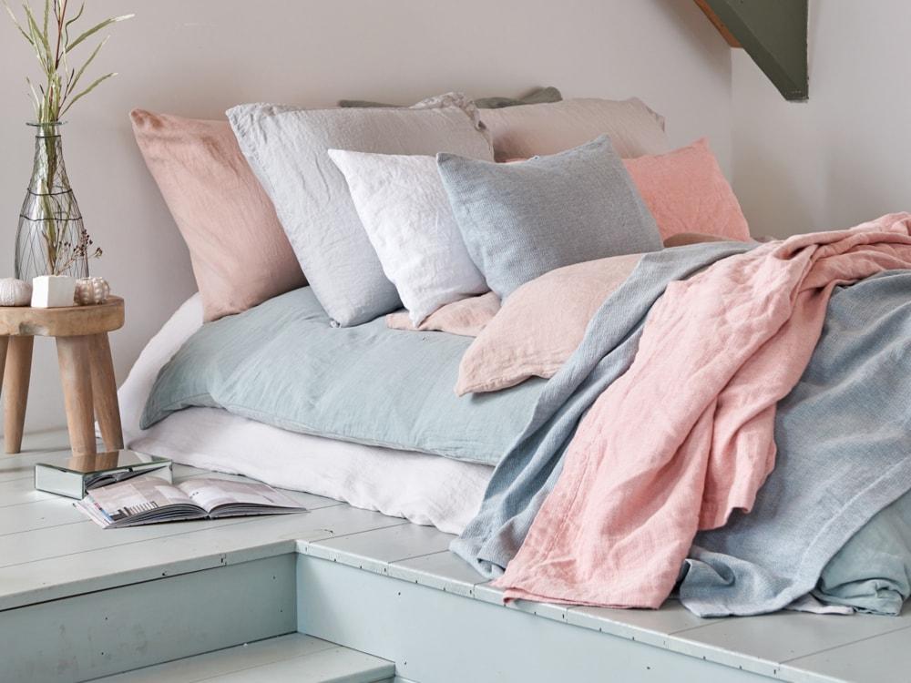 Vandyck Luxusní bavlněné povlečení VANDYCK Washed Cotton Sephia pink - růžová - 140x200 / 70x90 cm