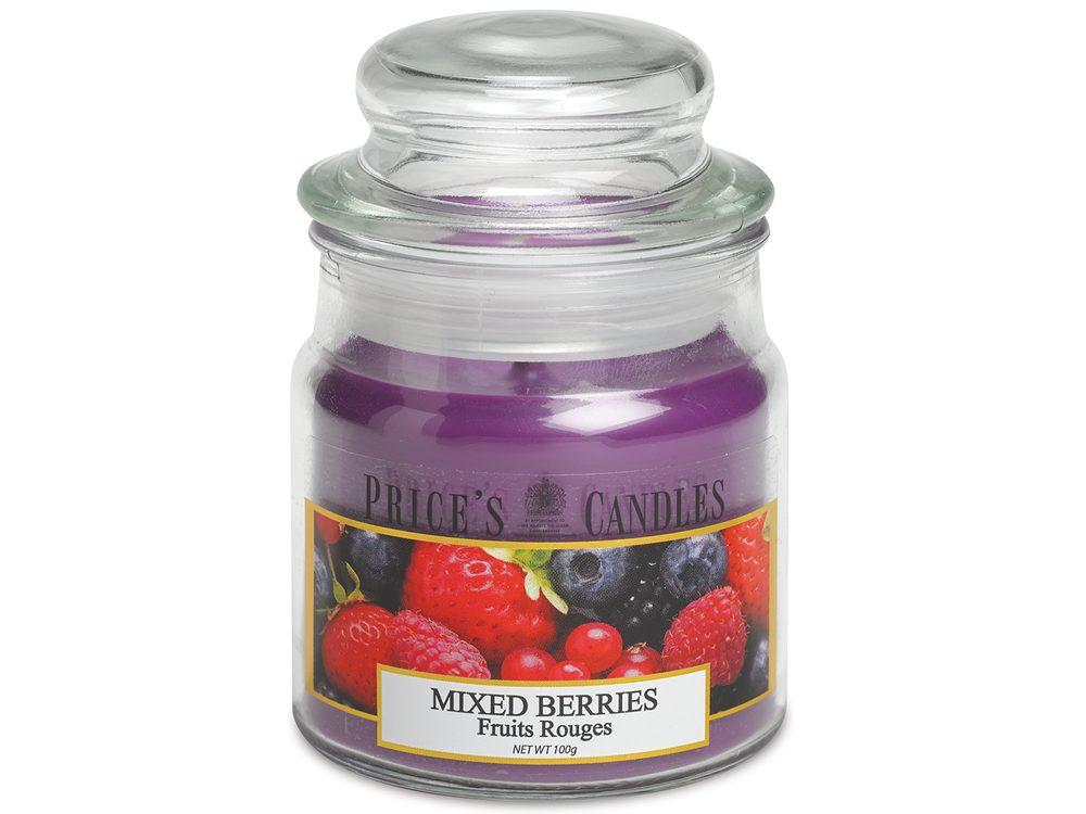 PRICE´S MINI svíčka ve skle Voňavé lesní plody - hoření 30h