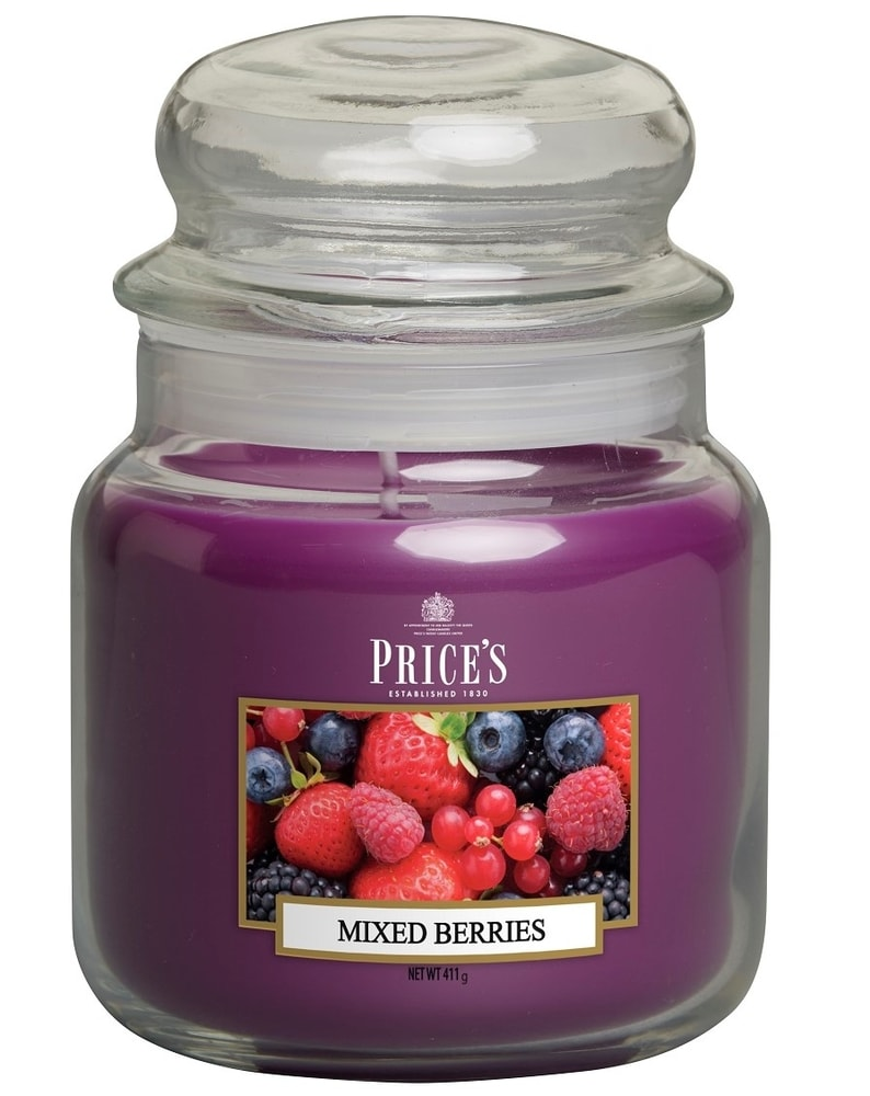PRICE´S MIDI svíčka ve skle Voňavé lesní plody - hoření 90h