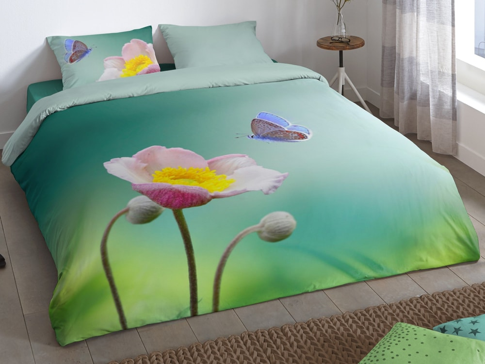 Good Morning Povlečení Good Morning 3D 100% bavlna Anemone 140x200/70x90 cm