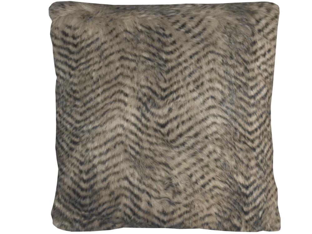 cb90e8dd9255 Home collection Dekorační polštářek imitace kožešiny 45x45 cm béžová