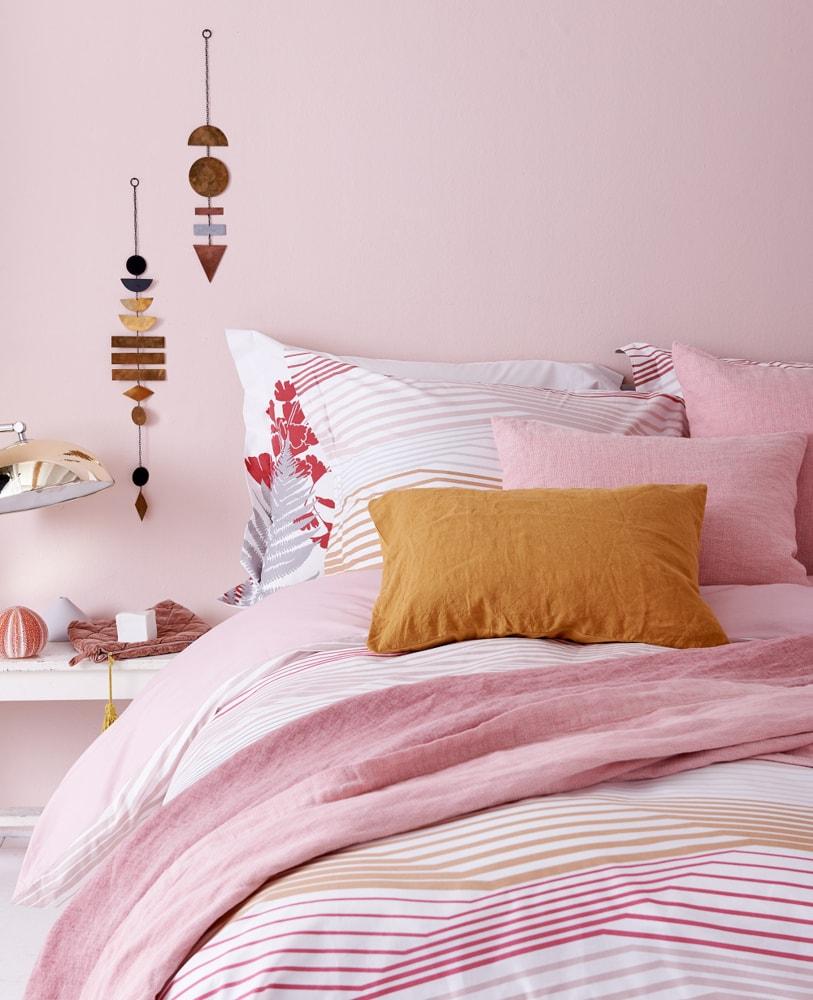Vandyck Luxusní bavlněné povlečení VANDYCK Multiply Faded pink - 140x200-220 / 60x70 cm
